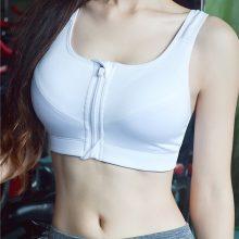 7 Color Fitness Yoga Push Up Sports Bra Women Gym Running Padded Tank Top Athletic Vest Underwear Shockproof Zipper Sport Bra