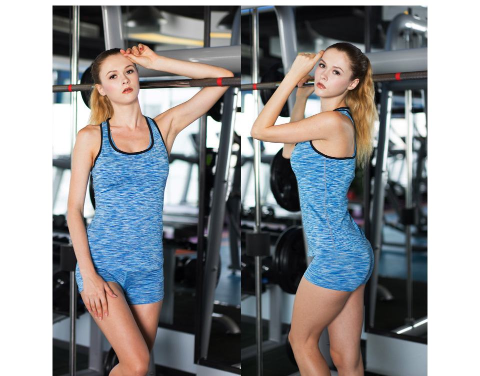 COLORFUL SERIES Running Quick Dry Vest Yoga Shirt High elasticity Tight fitting fitness Women GYM Clothing bodybuilding T shirt