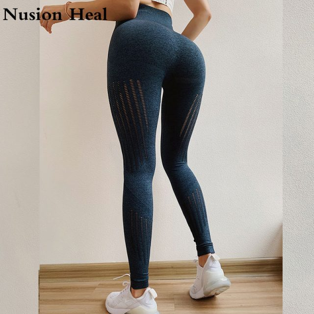 Women Energy Ombre Seamless Leggings In TEAL High Waisted Yoga Pants Woman Spor Leggings  Tights Gym Workout Fitness Leggings