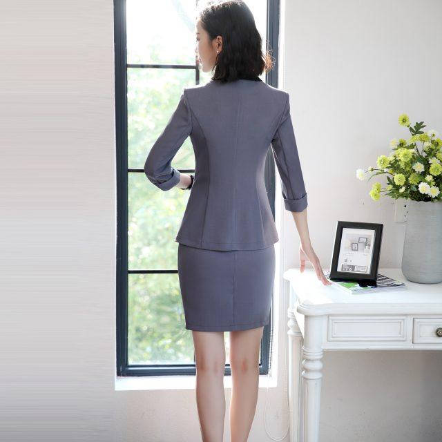 High Quality Autumn Spring Women's Blazer Lady Blazers Coat Suits Female Single Button Jacket Suit