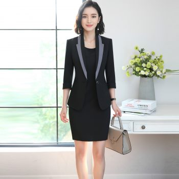 High Quality Autumn Spring Women's Blazer Lady Blazers Coat Suits Female Single Button Jacket Suit