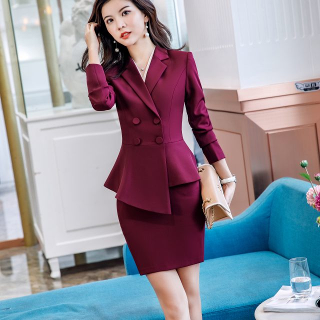 Women Suits 2019 Elegant Professional Wear Irregular Chic Blazers Office Lady Fashion Casual Work Coat Pants Suits Women Clothes