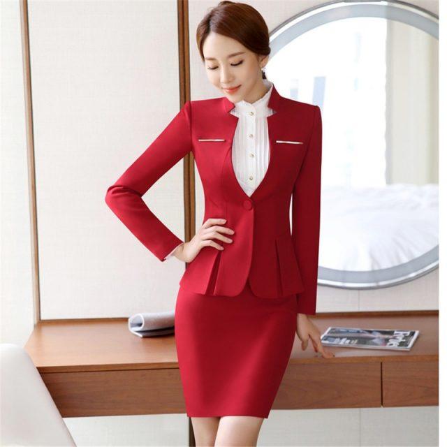 Formal Women Suits Workwear Office Lady Uniform Designs Female Blazer Jacket Set Elegant Pants Jacket Business Pant Suits 2019