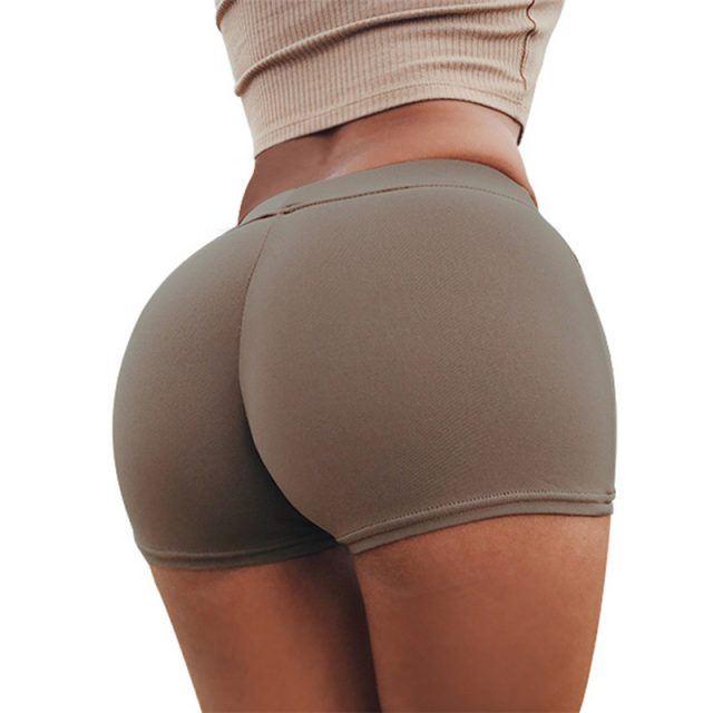 Sexy Yoga Shorts Women Sports Wear Fitness Short Pants Skinny Female Push Up Gym Clothing Solid Color Elastic Breathable Flex