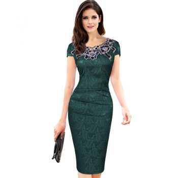 2017 summer dress women princess elegant and ladies dress short-sleeved party pencil Vintage dress for womanfree shipping