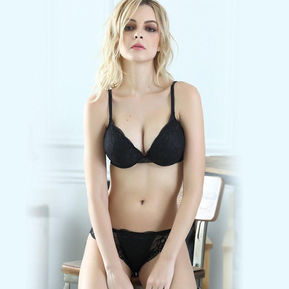 Newest sexy Women Lingerie Lace Bra Set Sexy Transparent Push Up Bra Women Underwear Bra&Panty Sets