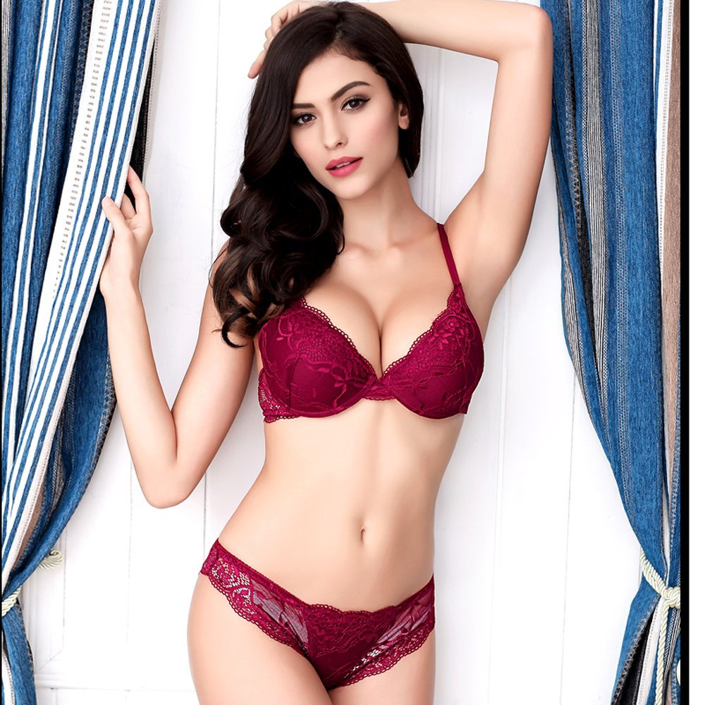 Newest sexy Women Lingerie Lace Bra Set Sexy Transparent Push Up Bra Women Underwear Bra&Panty Sets