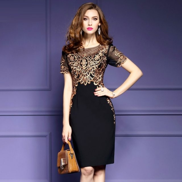 Office Lady Pencil Dress s XXXL 2019 NEW Runway Spring summer Retro dresses Women Clothing sexy Evening Party Club Elegant dress