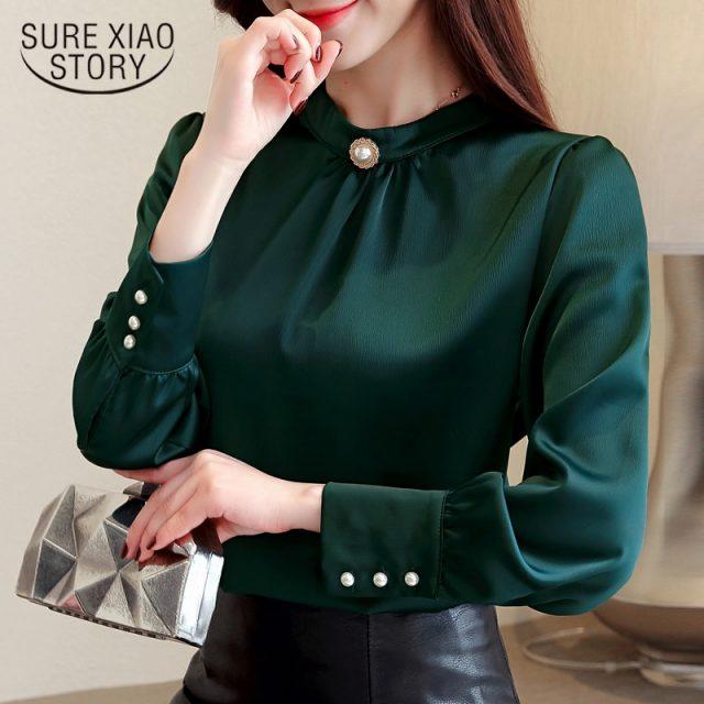 blusas mujer de moda 2018 long sleeve women shirts womens tops and blouses chiffon blouse shirt feminina plus size tops 1418 45