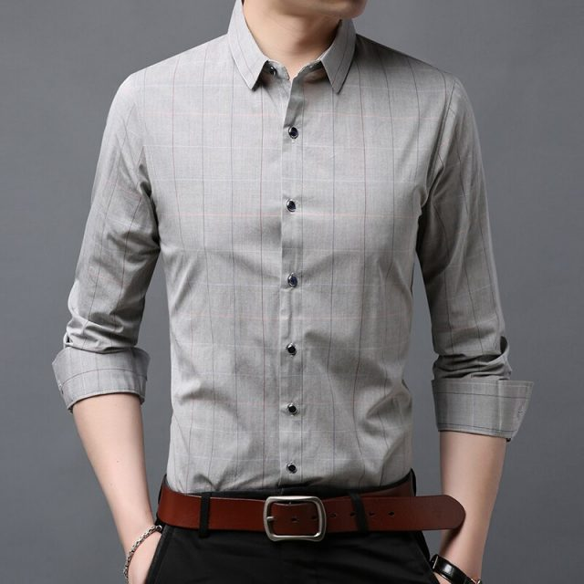 2019 Fashion Brand Shirt Men's High Quality Button Slim Fit Street Wear Long Sleeve Japanese Striped Casual Mens Clothing