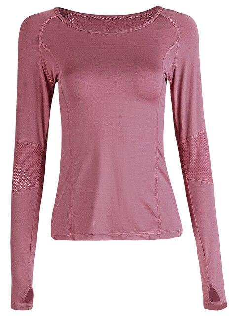 Peeli 2019 Athletic Mesh Sports Top Running Yoga Top Fitness Women Gym Fitness T Shirt Jerseys Long Sleeve Yoga Shirt Sport Wear