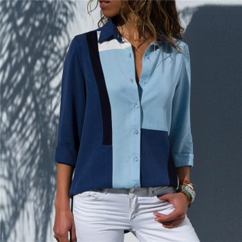 Women's  Long Sleeve Chiffon Blouse
