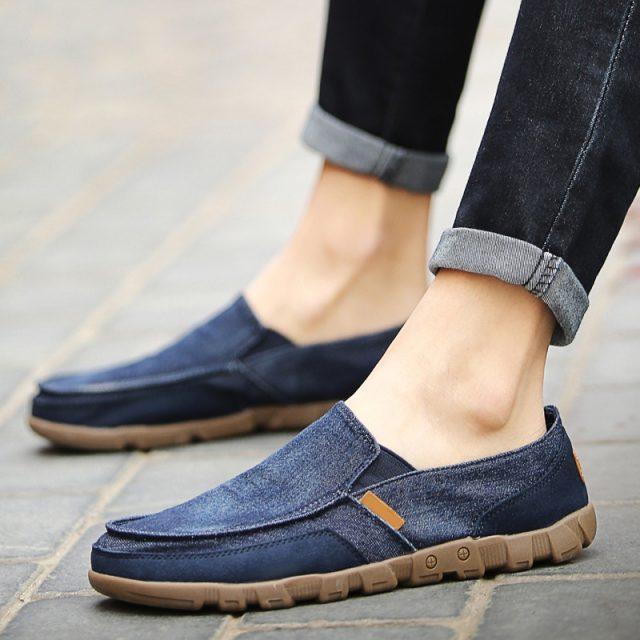 Canvas Men Shoes Plimsolls Breathable Men Casual Shoes Male Footwear Mens Trainers Loafers Men Canvas Shoes dfv34