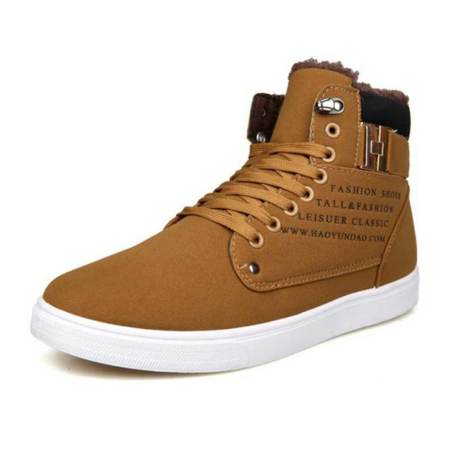 Warm winter shoes men sneakers 2019 solid lace-up flat with men shoes ankle boots comfortable mans footwear zapatos de hombre