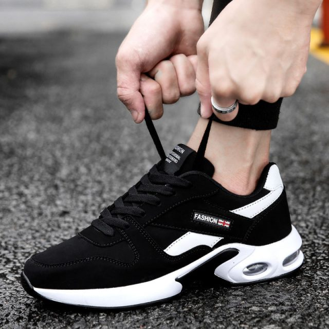 2019 Sneakers Men Shoes Tennis Shoes Comfortable Lace-up Casual Shoes Man Mixed Color Sneakers Male Trainers Low Heels Footwear