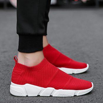 Weweya Size 35-44 Outdoor Lovers Casual Shoes Men Summer Mesh Unisex Sock Shoes Brands Slip On Socks Footwear Sneakers Men Shoes