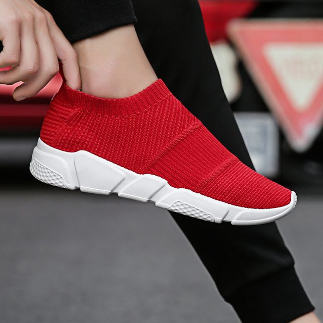 Weweya Size 35-44 Outdoor Lovers Casual Shoes Men Summer Mesh Unisex Sock Shoes Brands Slip On Socks Footwear Sneakers Men Shoes
