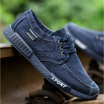 Spring Autumn New 2018 Plimsolls Breathable  Male Tenis Shoes Footwear Canvas Men Shoes Denim Lace-Up Men Casual Shoes LE-70