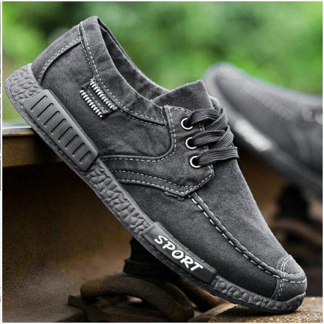 Spring Autumn New 2018 Plimsolls Breathable  Male Tenis Shoes Footwear Canvas Men Shoes Denim Lace-Up Men Casual Shoes LE-70