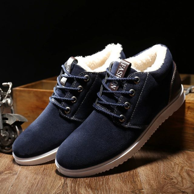 2019 Men's Shoes Winter Warm Men Shoes Casual Male Loafers Casual Footwear Winter Autumn Men's Sneakers Breathable Shoes778