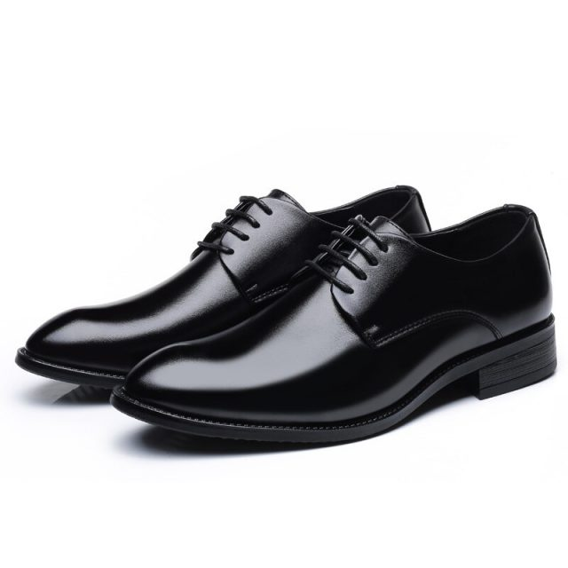 High New Men Shoes Non-slip Shoes Casual Leather Fashion Brand 2019 Black Male Footwear Soft Men's Shoes Quality