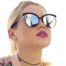 2019 New Vintage Cat Eye Sunglasses Women Fashion Brand Designer Mirror Cateye Sun Glasses For Female Shades UV400