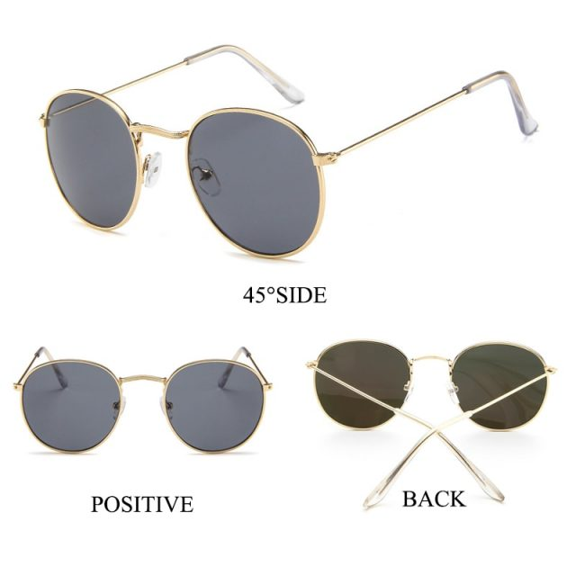 LeonLion New Arrival 2019 Round Sunglasses Women Classic Vintage Glasses Street Beat Shopping Mirror UV400 Gafas De Sol Mujer