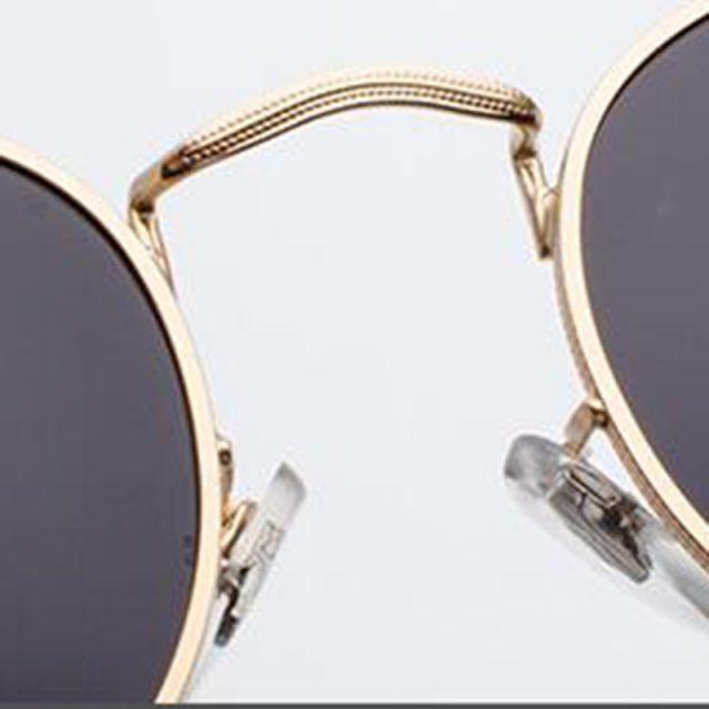 Yoovos 2019 Vintage Metal Sunglasses Women Mirror Brand Designer Round Female Sun Glasses Classic Fashion Oculos De Sol Gafas