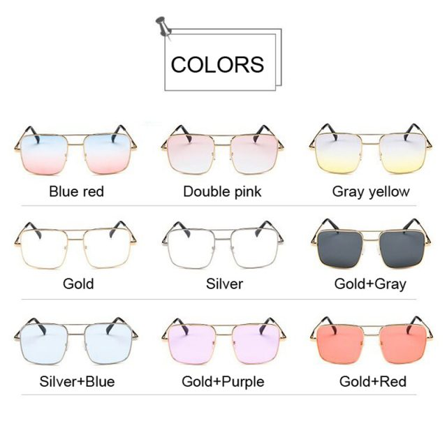 New Oversized Square Sunglasses Women Luxury Brand Designer Frame Transparent Gradient Sun Glasses Female Oculos De Sol Feminino
