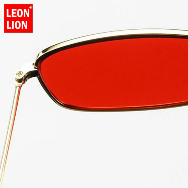 LeonLion 2018 Mirror Street Beat Sunglasses Women/Men Brand Designer Vintage Glasses Lady Driving UV400 Oculos De Sol Gafas