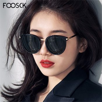 FOOSCK Fashion Ladies Sunglasses Brand Unisex Square Sun glasses Women Men  Mirror De Sol Mujer  Accessories Eyewear UV400