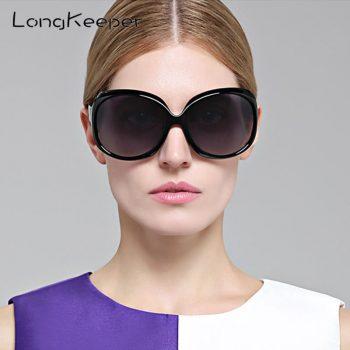 LongKeeper Sunglasses Women Polarized UV400 Oversized Vintage Sunglasses Female Sun Glasses Shades 3113