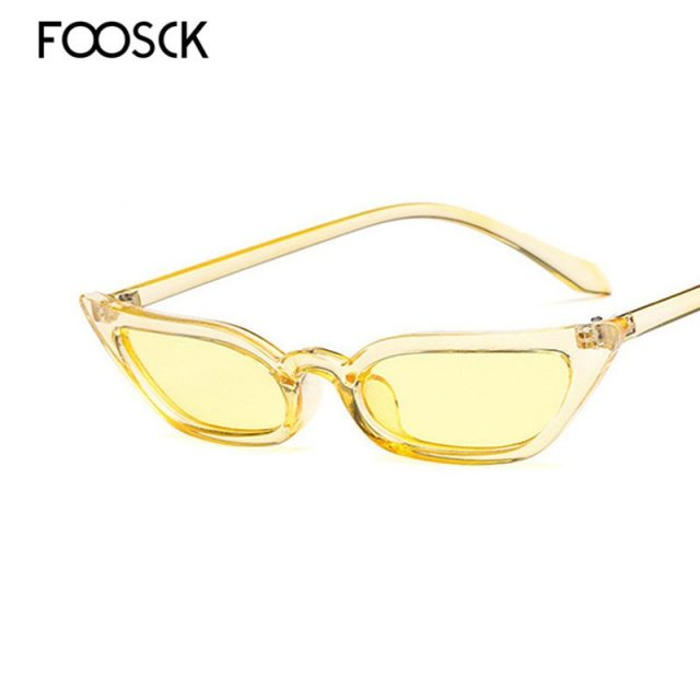 FOOSCK Women Luxury Brand Designer Vintage Sun Glasses Female Retro Eyewear OvalShape Oculos De Sol Feminino