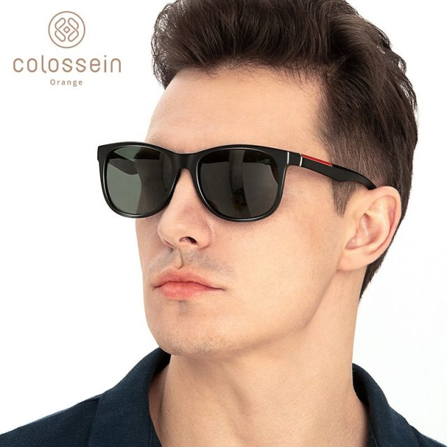 COLOSSEIN Sunglasses Men Polarized Classic TR90 Vintage Square Luxury For Women lentes Gafas de sol para hombre