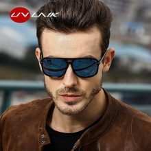 UVLAIK Polarized Sunglasses Men Oversized Square Mirror Driving Sun Glasses Brand Designer Retro Driver Sunglass UV400 Goggles