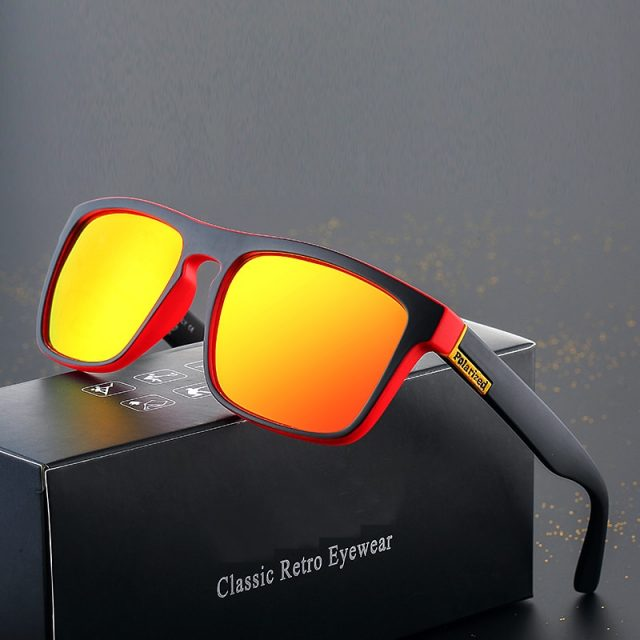 2019 new square polarized men's sunglasses classic luxury brand design fashion ladies sunglasses UV400 sports driving glasses