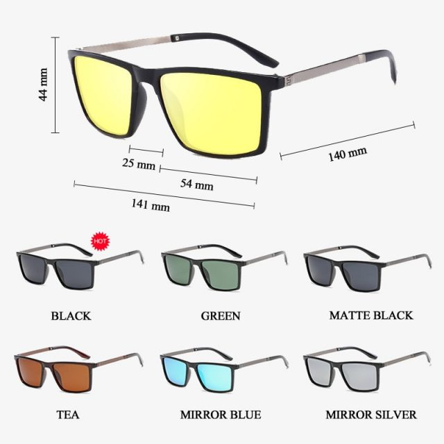 SIMPRECT 2019 Square Sunglasses Men Polarized Mirror Driving Retro Sun Glasses UV400 High Quality Brand Lunette De Soleil Homme