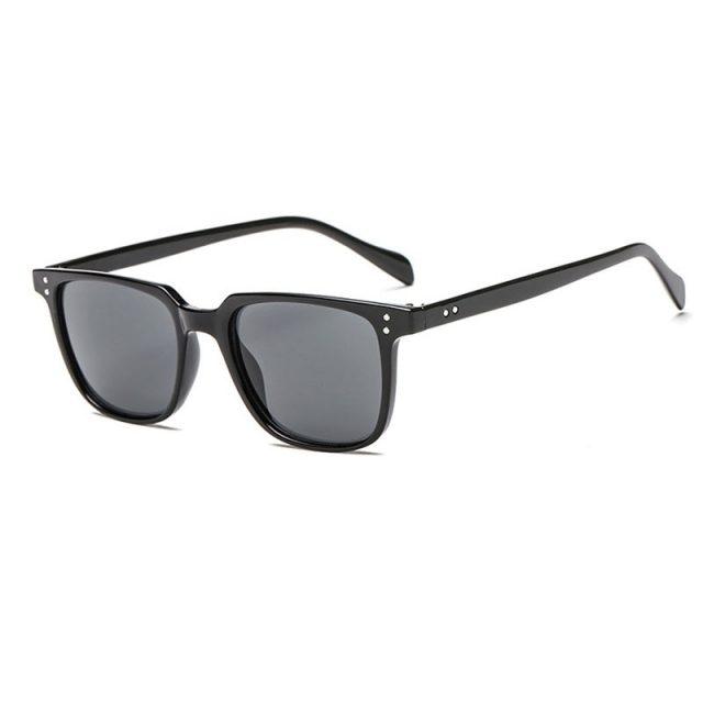 HUHAITANG Luxury Mens Sunglasses Men Brand Vintage Suqare Leopard Sunglass Women 2019 Designer Small Rivet Sun Glasses For Woman