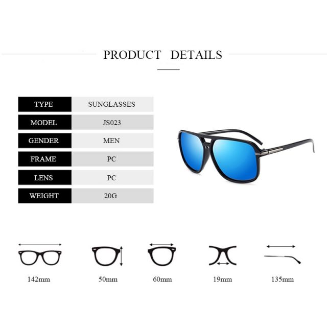 Jsooyan Polarized Sunglasses Men Square Brand Designer Sun Glasses Retro yellow night vision Goggles Male Driving Eyewear