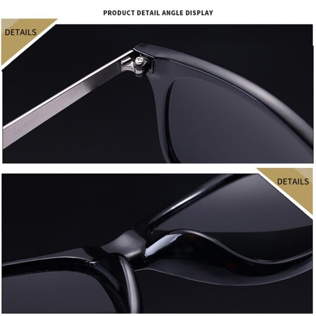 Jsooyan Vintage Retro Sunglasses Men Polarized Square 2019 Brand Designer Sun Glasses For Men UV400 Driving Mirror Goggle