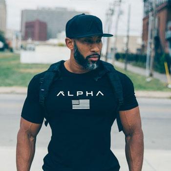 ALPHALETE 2019 New Brand Clothing Gyms Tight Cotton T-shirt Mens Fitness T-shirt Homme Gyms T Shirt Men Fitness Summer