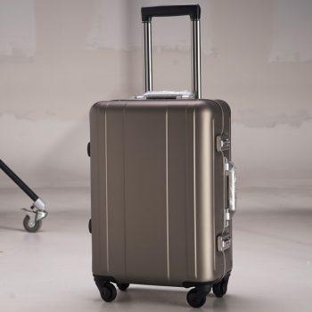 100 Aluminium Rolling Luggage Trolley Password Box 20' Boarding Suitcase Women Travel Bag Trunk