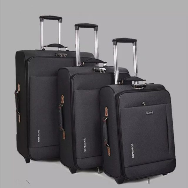 New business rolling luggage large capacity Oxford travel suitcase trolley box men women boarding luggage bag 20″24″28″ inch
