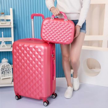 CARRYLOVE 20″22″24″26″28″ women luggage hardside suitcase carry on trolley case on wheels
