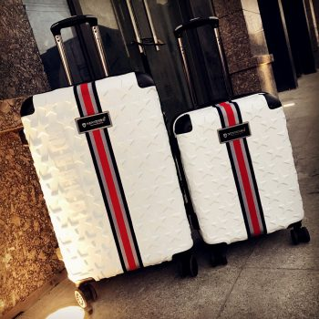 Business rolling luggage 20/24/28 inch high quality fashion 100% PC trolley suitcase spinner brand travel luggage