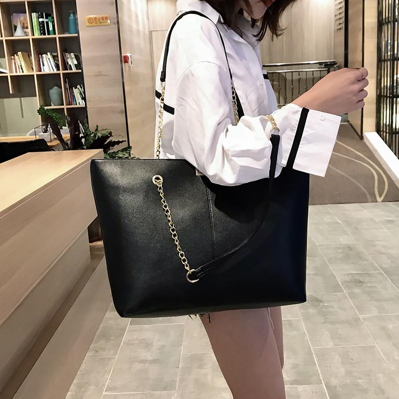 Women pu Leather women Handbags Female Shoulder bag designer Luxury Lady Tote Large Capacity Zipper shoulder bag