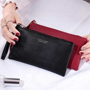 Women Clutch Bag Simple Black Pu Leather Crossbody Bags Enveloped Shaped Messenger Shoulder Bags Big Sale Pochette Femme Z95