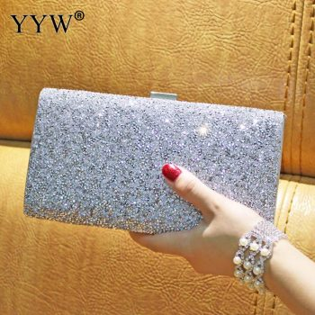 Rhinestone Clutch Bag Women Luxury Gillter Evening Party Purse Box Bag Diamond Female Clutch Crystal Day Wallet Wedding Purse