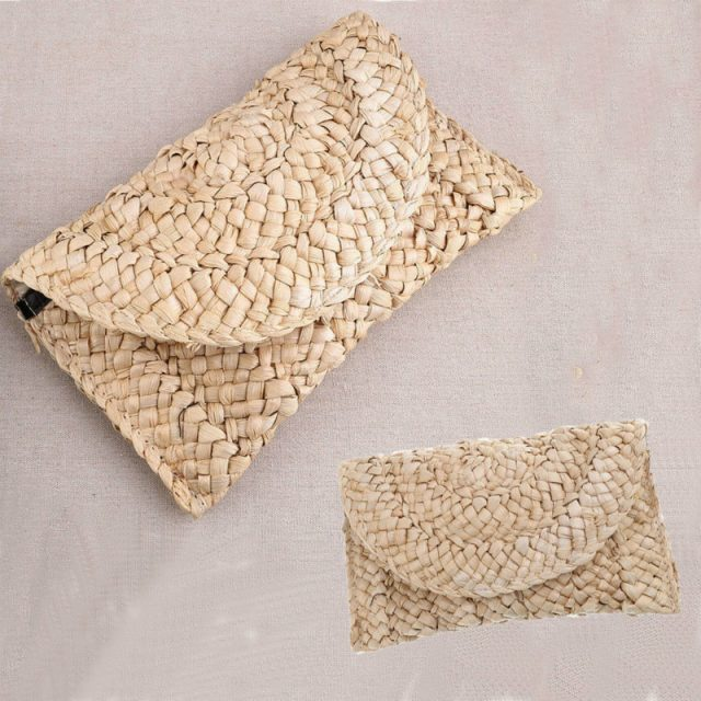 2019 New Fashion Lady Women Summer Lovely Retro Straw Knitted Handbag For Key Money Beach Long Bag Clutch