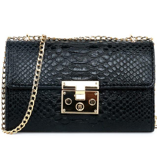 Fashion Ladies Crocodile Flap Bag Designer Handbags Women Bags 2019 Black White Small Day Clutch Gold Chain Girls Crossbody Bags